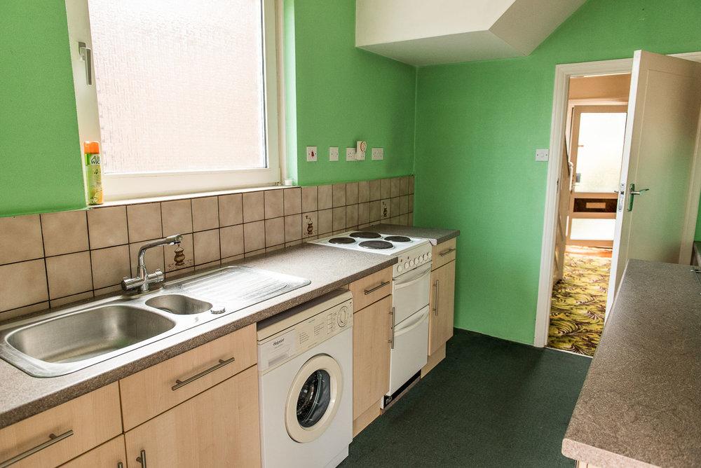 1930s house renovation kitchen before shots