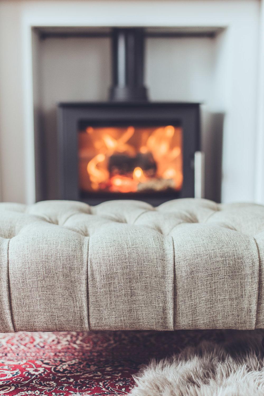 footstool farmhouse living room