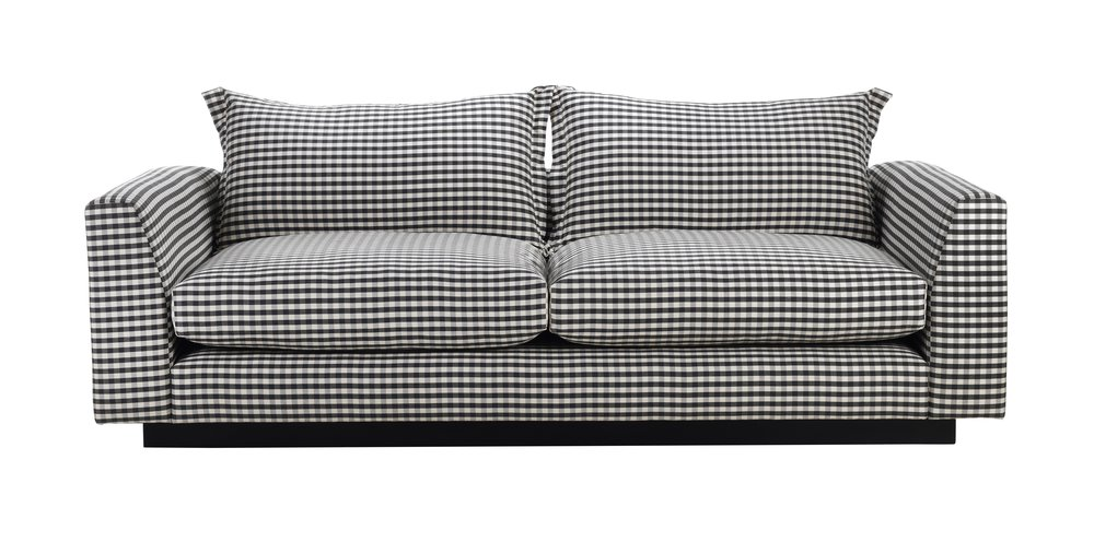 STRIKING ARLO + JACOB GINGHAM SOFA