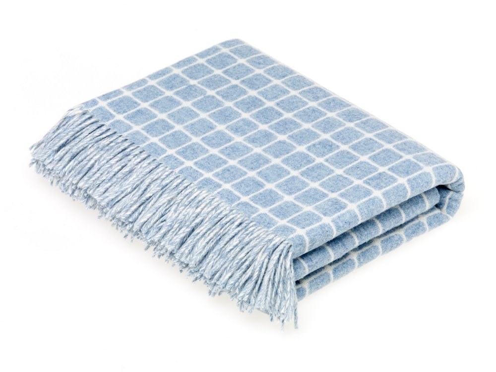 GINGHAM THROW IN ATHENS, AQUA