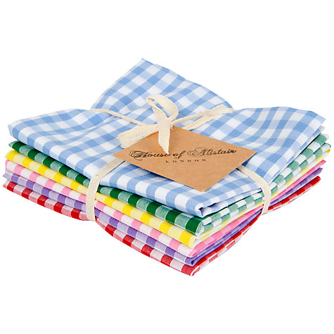PICK UP SOME GINGHAM POCKET SQUARES + USE AS NAPKINS!