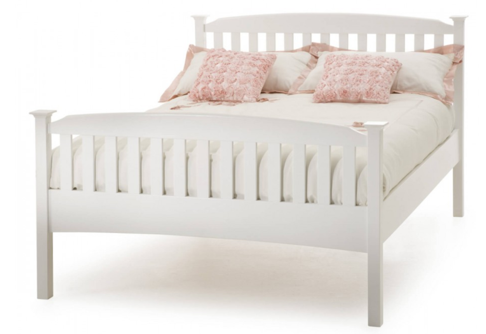 The Eleanor High Foot Bed Frame, £299 for a UK Double,  Bed Guru