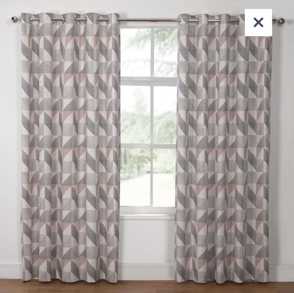 Delta Grey & Mauve curtains  £14.99-£29.99, Julian Charles