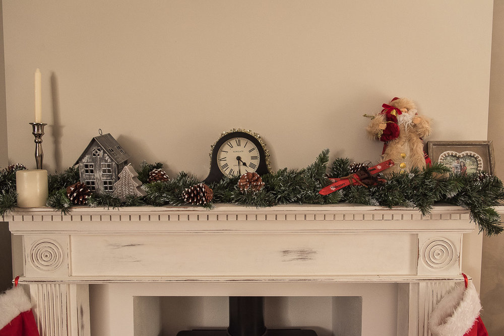 Christmas mantlepiece