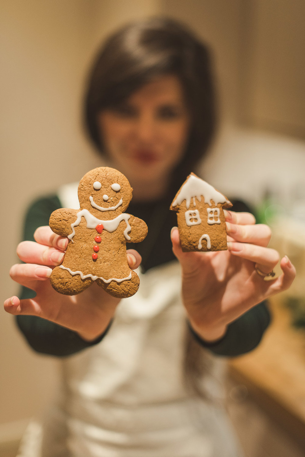 Gingerbread men and houses for Christmas