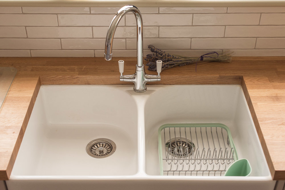1930s kitchen diner renovation Belfast Sink