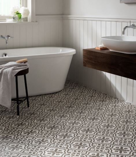 Berkeley Charcoal Floor Tile , Topps Tiles