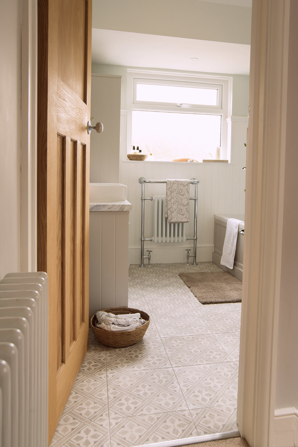 Laura Ashley tiles in Dove Grey, available  HERE .