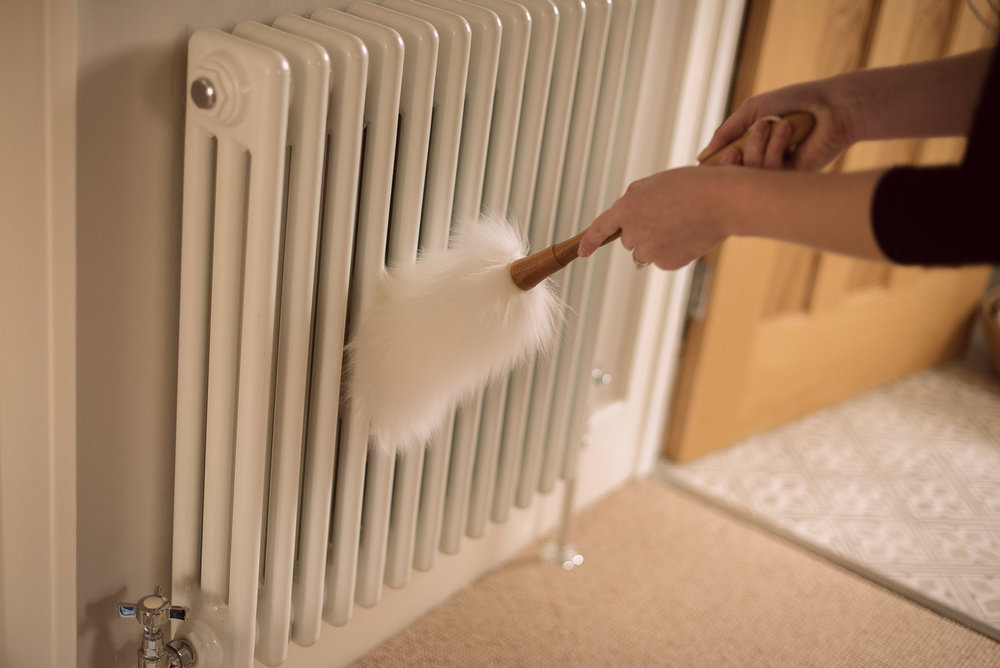 how to clean column radiators