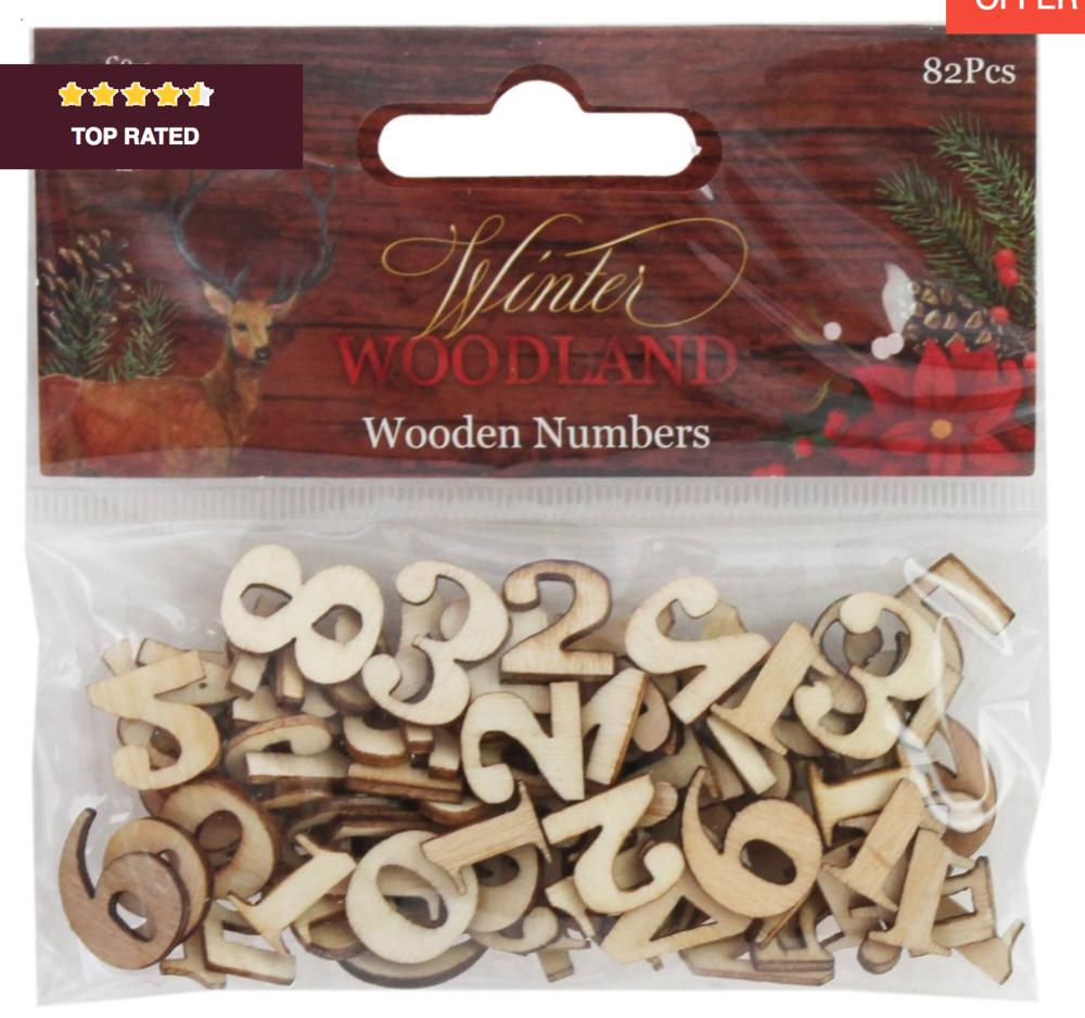 DIY Advent Calendar stick on numbers