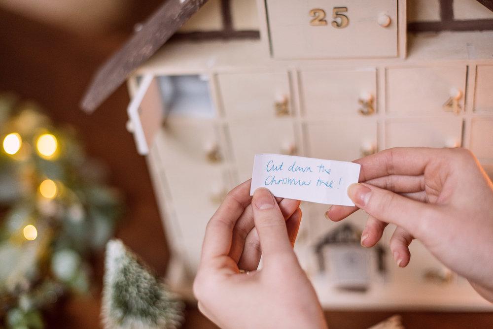 DIY Christmas Advent Calendar House
