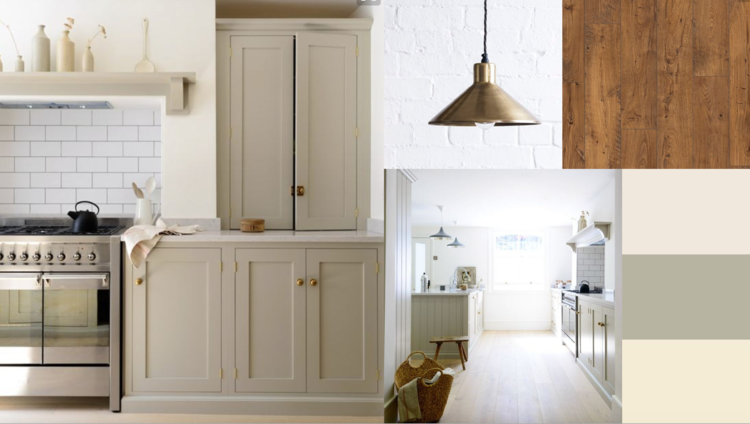 How I produced a kitchen moodboard