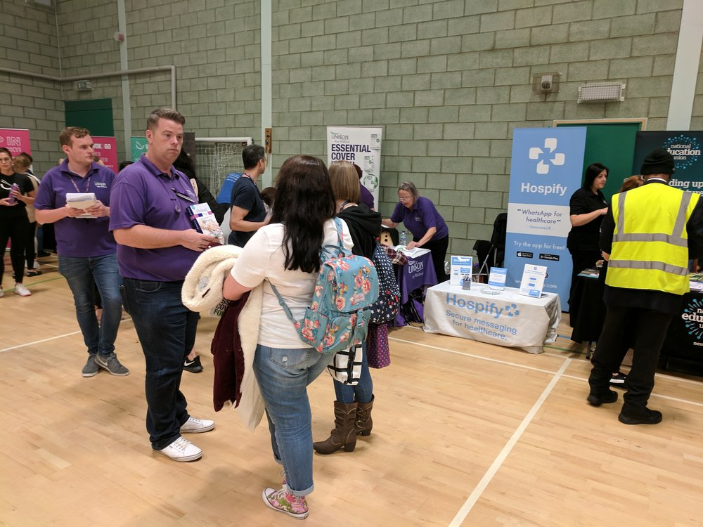 Hospify and Unison at the University of Wolverhampton Freshers' Fair in September