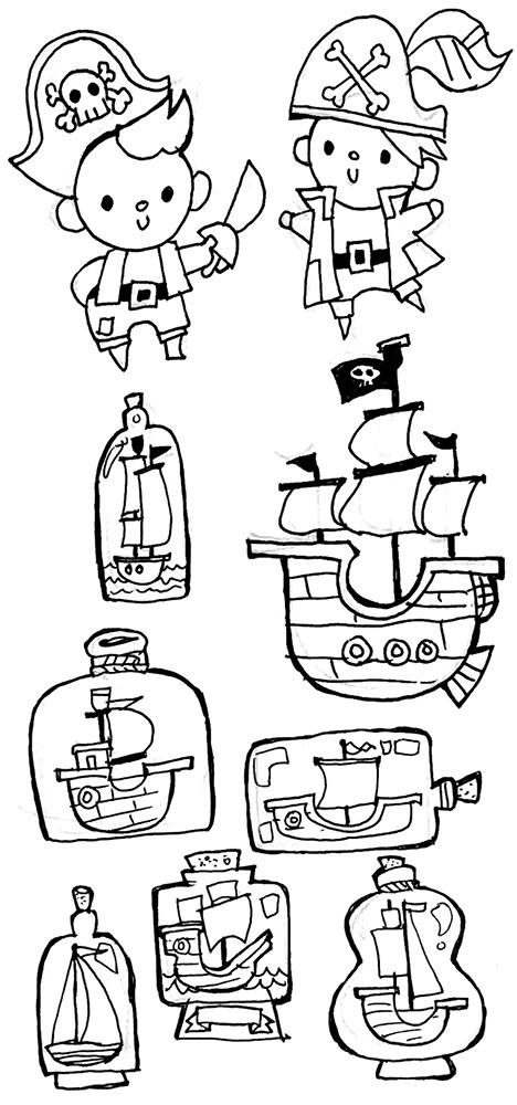 Gel-ink pen sketches
