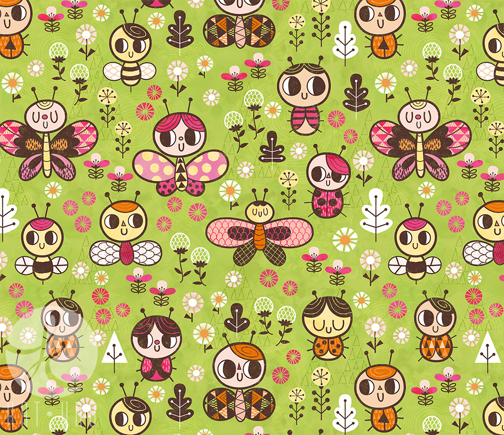 Happy Bug Garden pattern