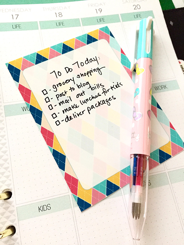 Printable Journaling Card in use