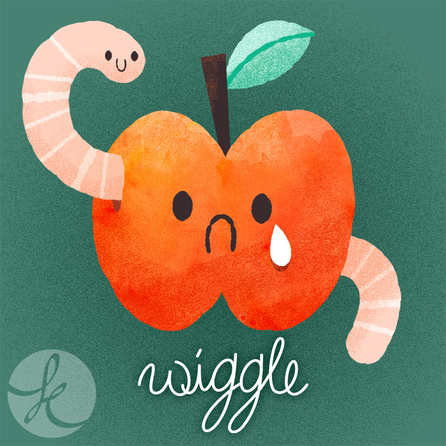 Illustration Friday - Wiggle