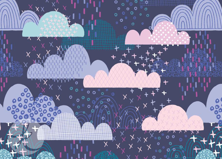 fun clouds pattern