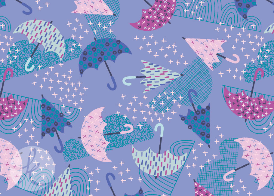 fun umbrella print