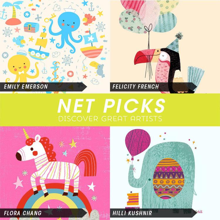 Net Picks - Adorable Designs for Kids — Kat Uno Illustration and Design
