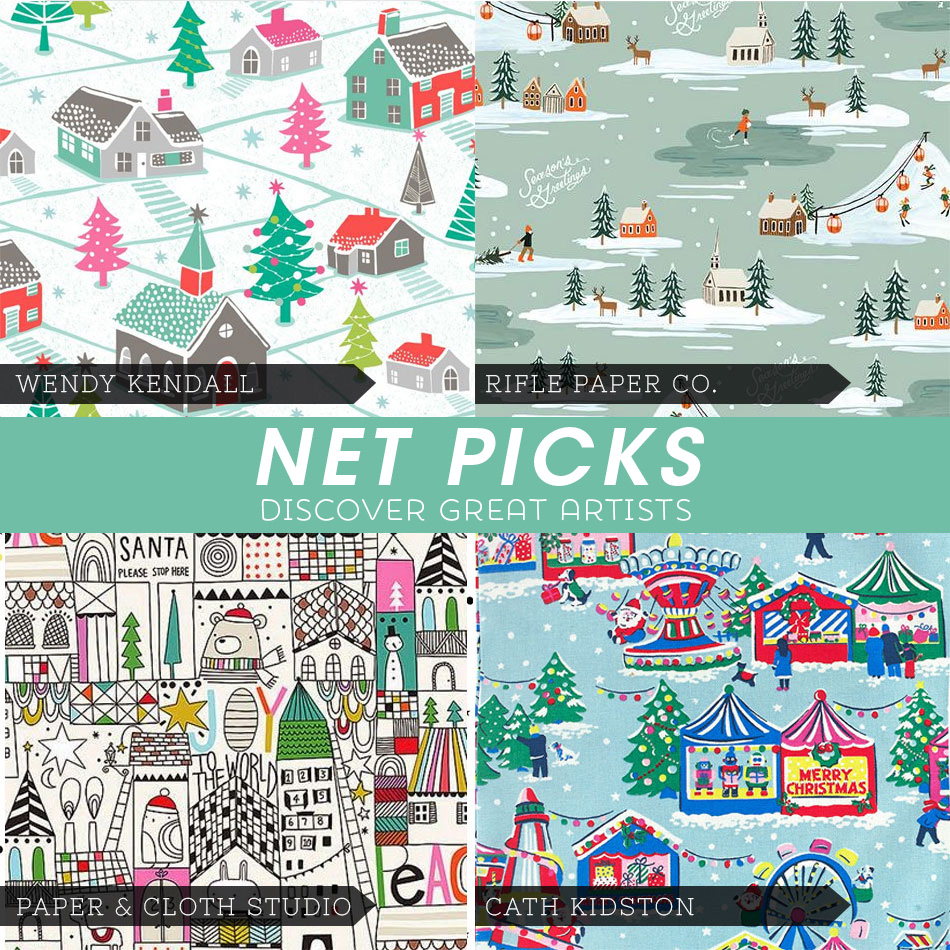 Net Picks - Discover Great Artists - Holiday themed prints via Kat Uno's Design Blog