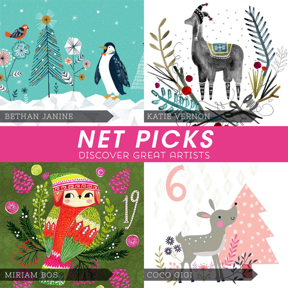 Net Picks - Discover Great Artists - More Holiday Cuties via Kat Uno's Design Blog