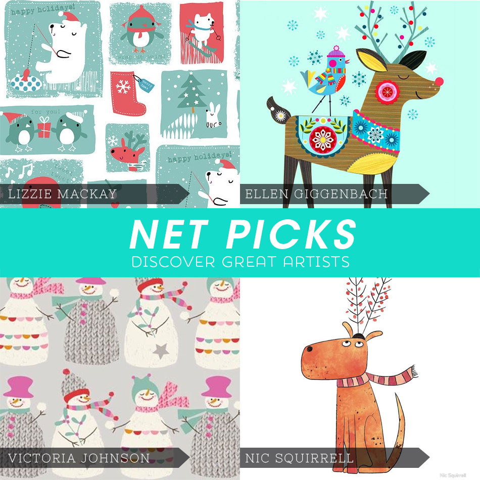 Net Picks Discover Great Artists - Holiday Cuties via Kat Uno's Design Blog