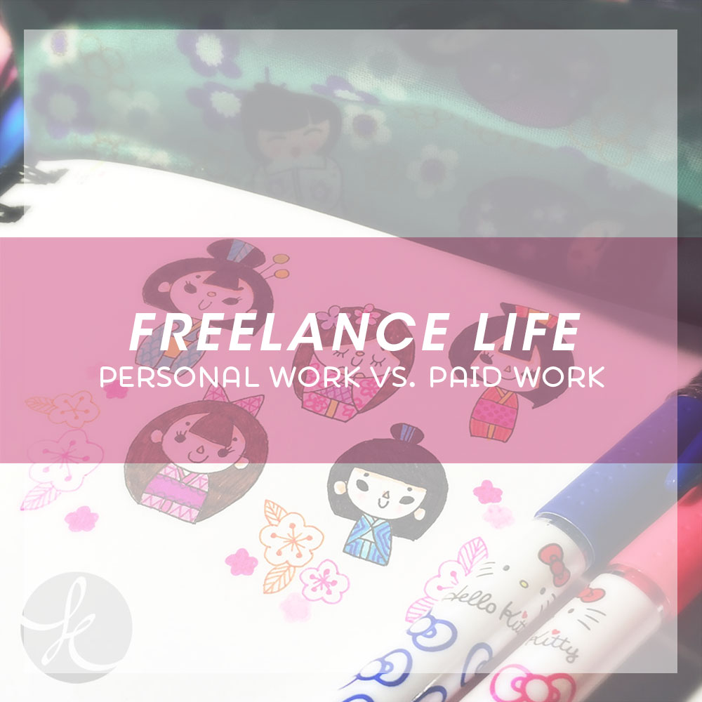 Freelance Life Personal work vs. Paid Work via Kat Uno's Design Blog