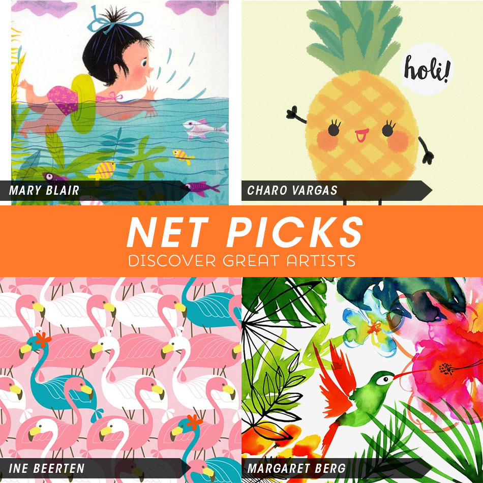Net Picks - Tropical Inspired Designs via Kat Uno's Design Blog