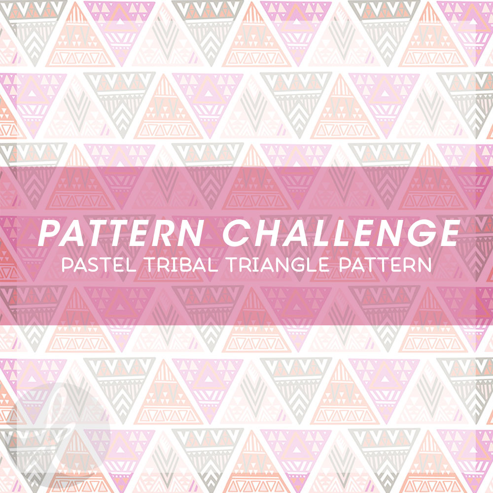 June Pattern Challenge Pastel Tribal Triangle Pattern