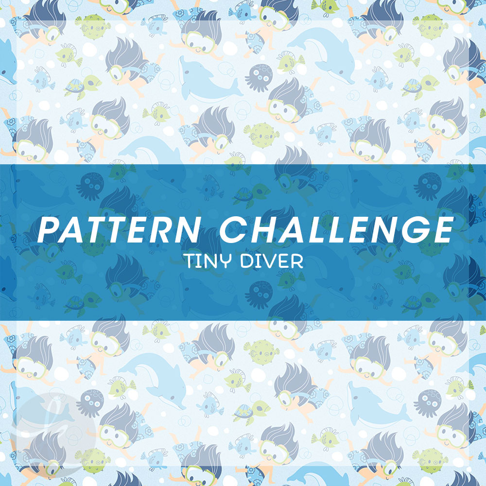 June Pattern Challenge Tiny Diver pattern