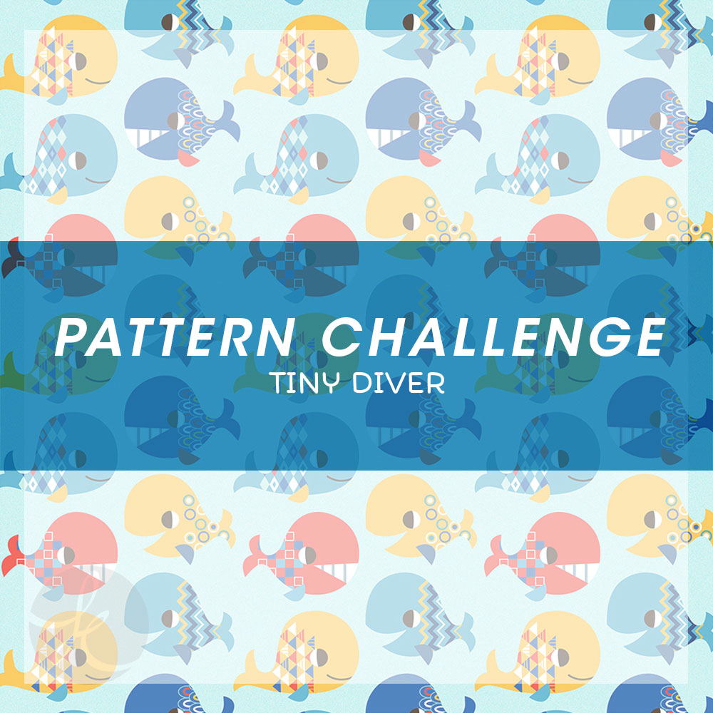 June Pattern Challenge Happy Whales pattern