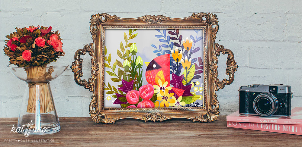 Cardinal framed