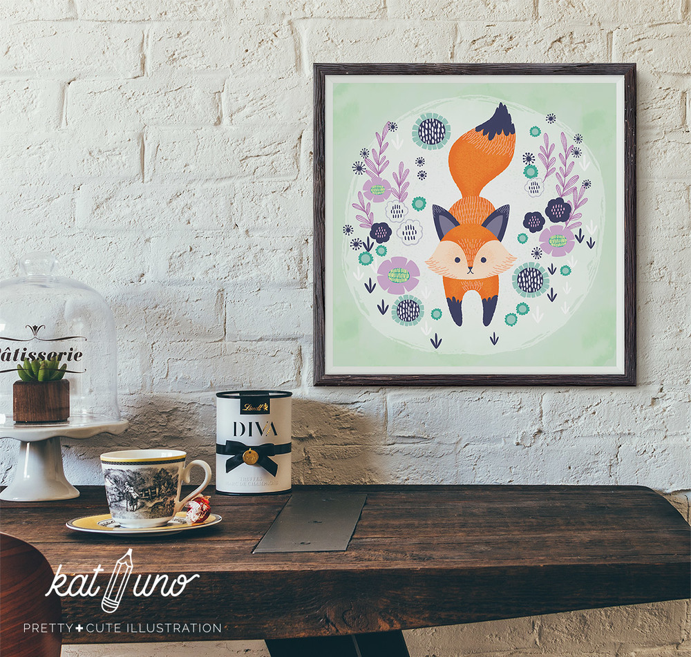 Fox Framed