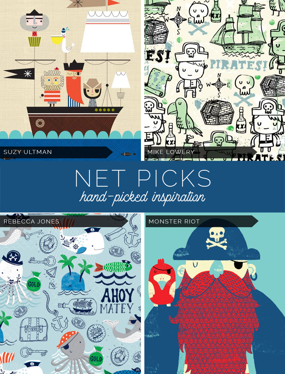 Net Picks - Nautical and Pirate Inspired Designs For Boys