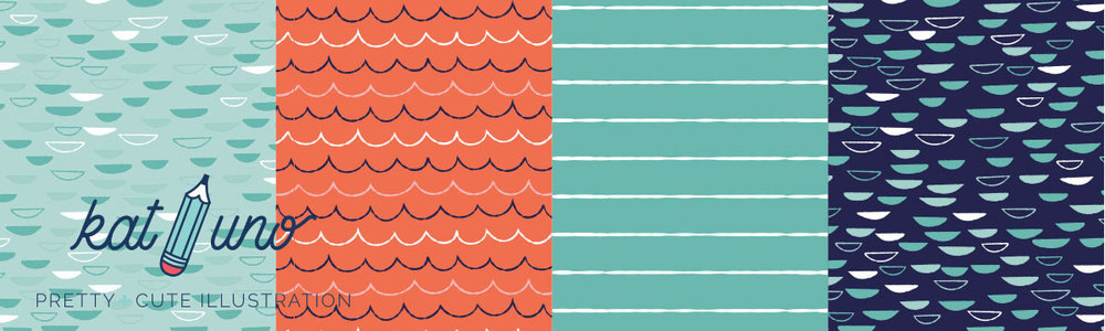 Pirate pattern coordinating prints