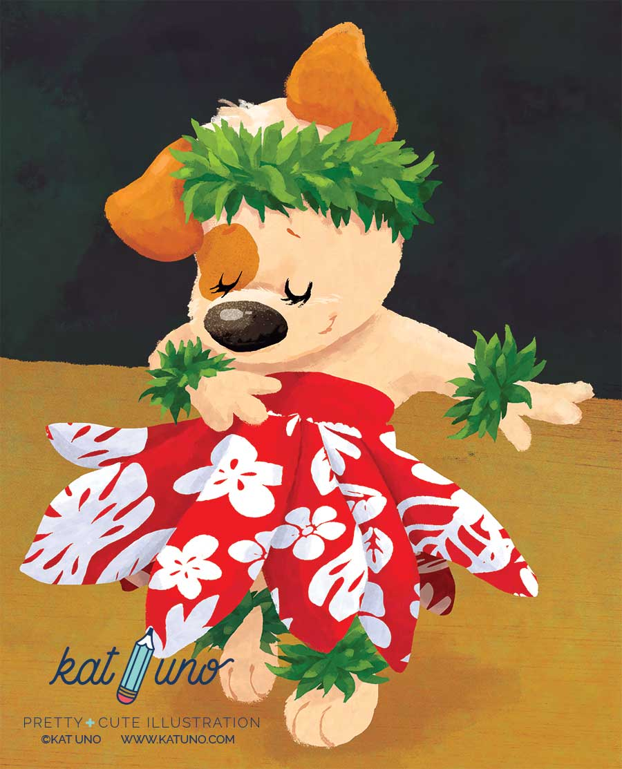 Peekaboo the Poi Dog - hula dancing