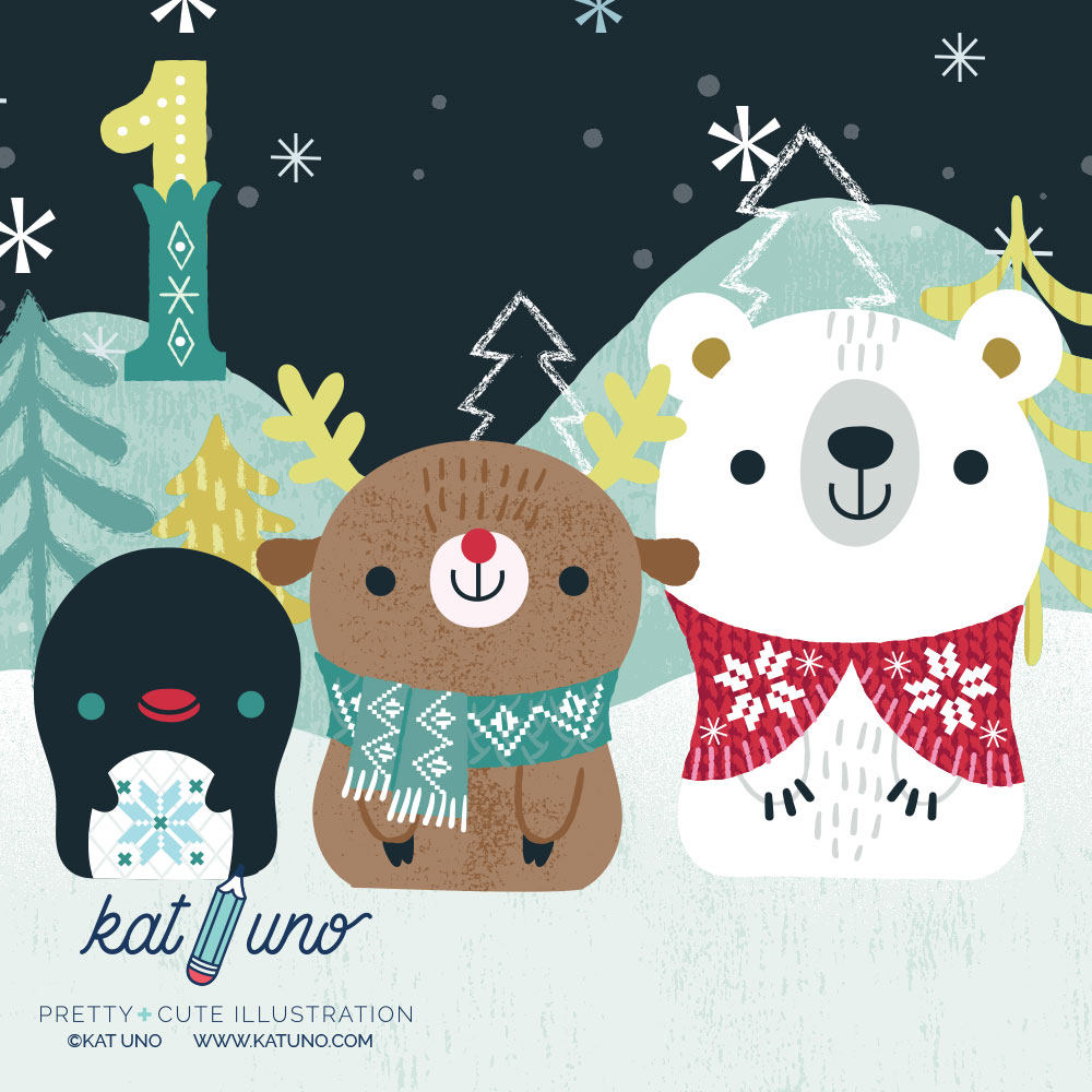 Kat Uno Designs - advent project 2016 day 1
