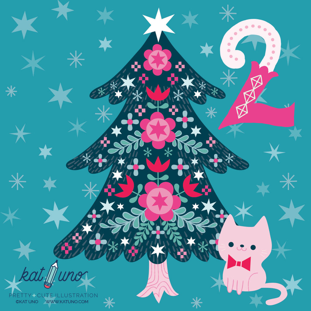 Day 2 of the Holiday Advent Project! Today's design is a folksy Christmas tree!