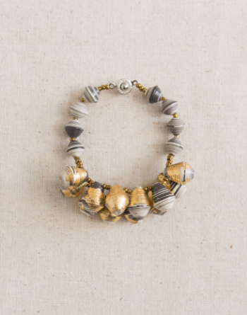 gold and neutral bracelet from 31 bits