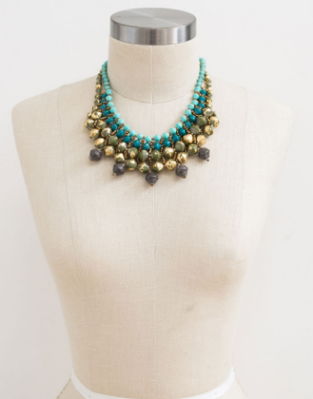 teal necklace from 31 bits