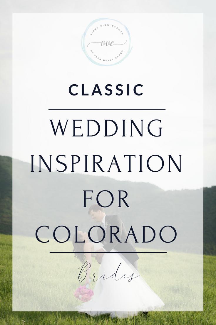 Classic Wedding Inspiration at a Colorado Mountain Wedding Venue