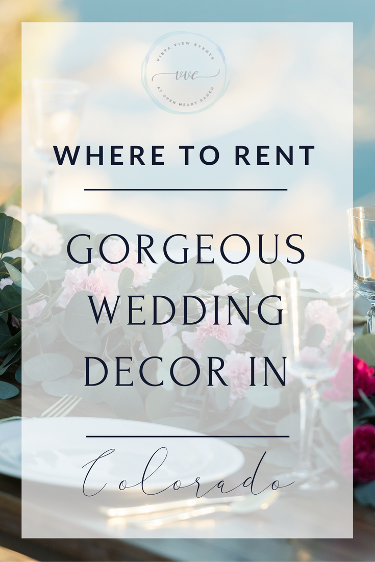 Four of the best wedding decor rental companies in Colorado. If you're a Colorado bride looking for charming and unique wedding decor rentals, don't miss this blog!