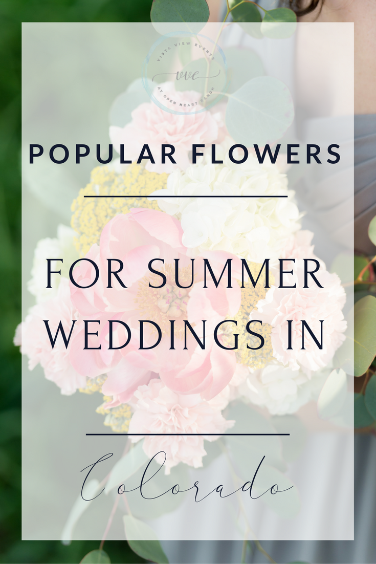 Popular flowers for summer weddings