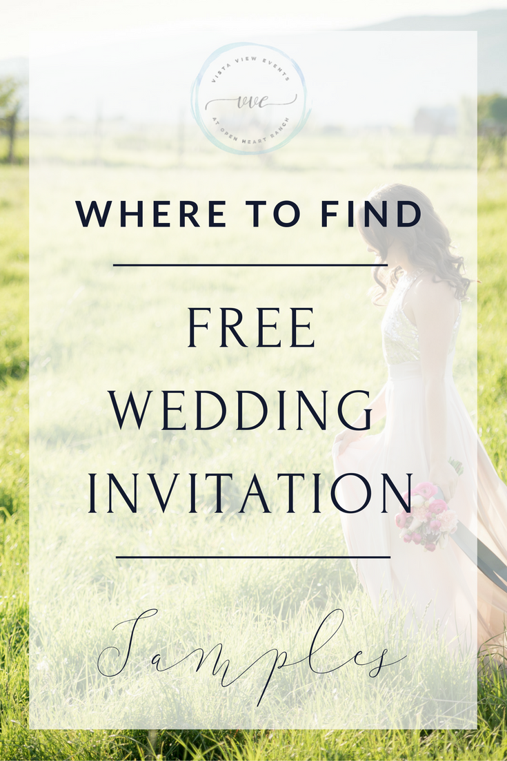 How to Find Free Wedding Invitation Samples While You're Planning Your Wedding
