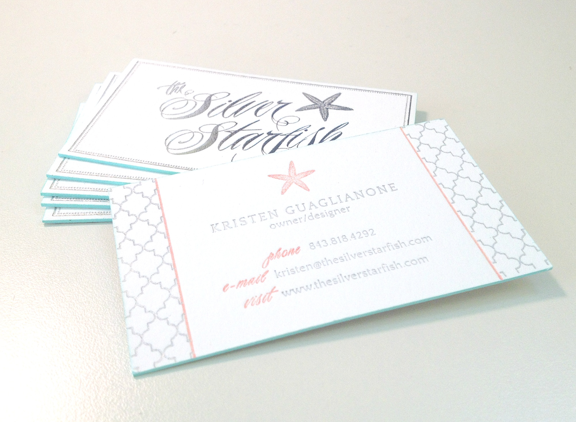 New Business Cards — The Silver Starfish