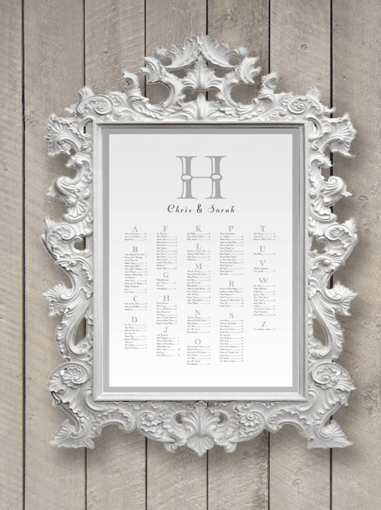 Great Framed Seating Chart ...