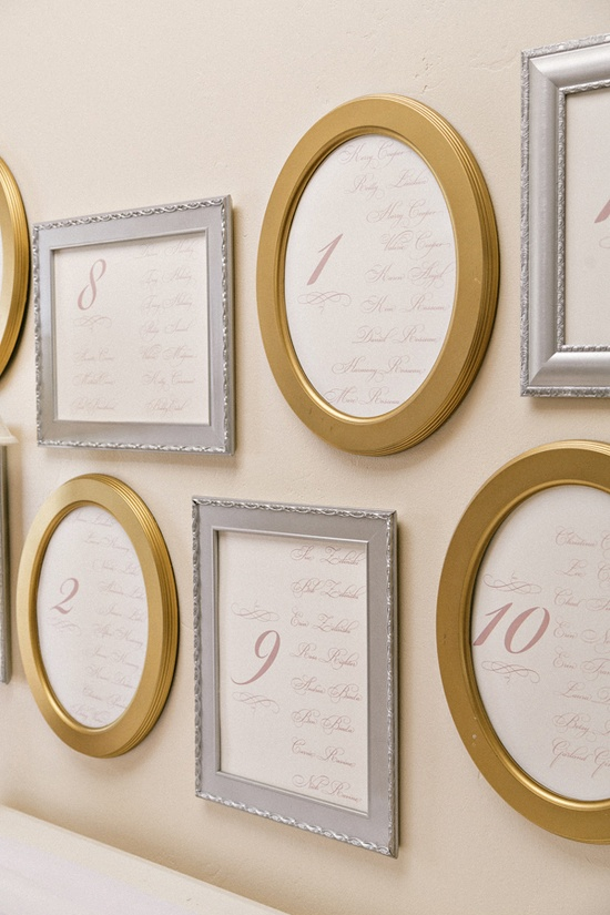 small framed seating charts