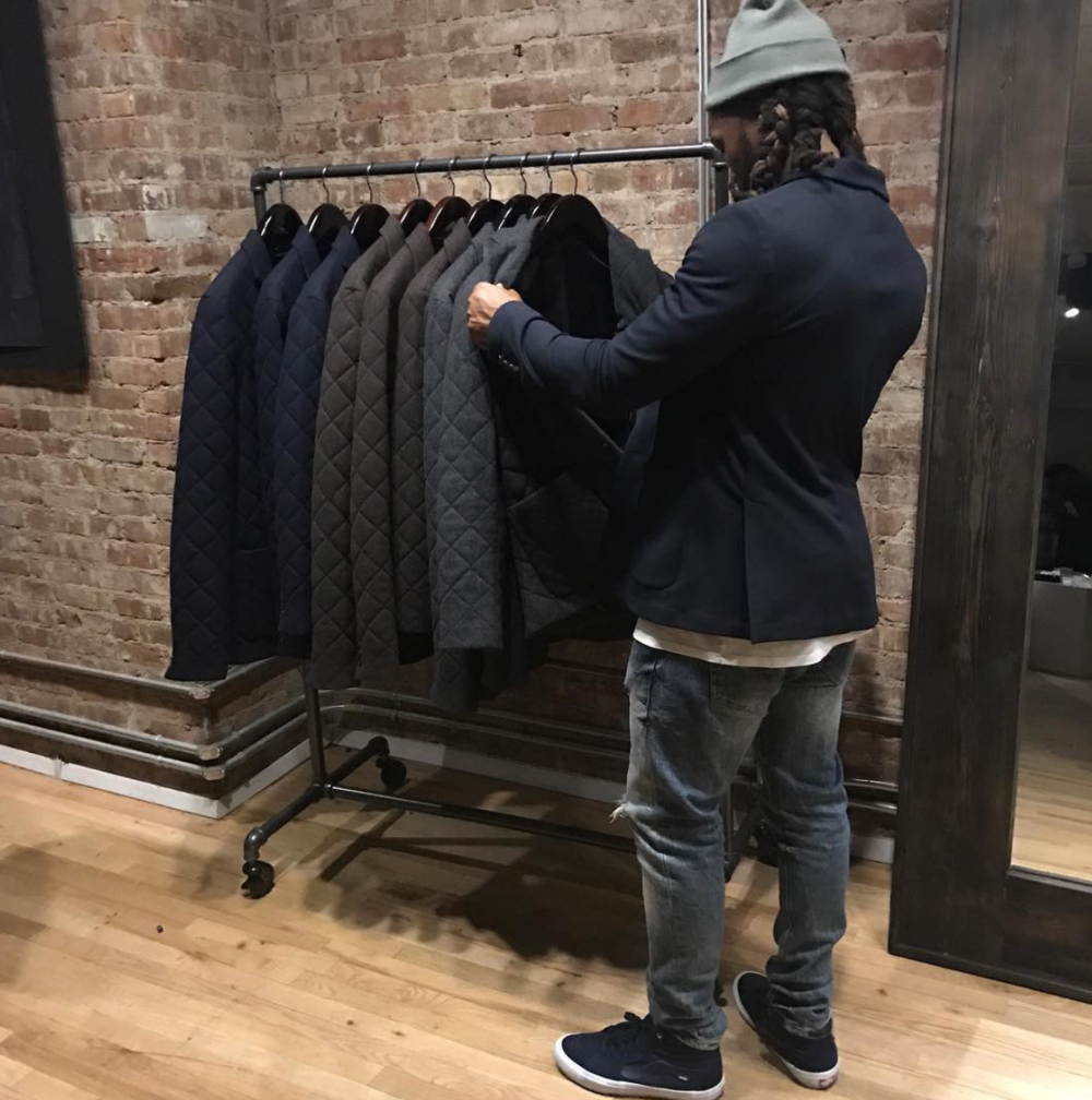 Bolden spending time at Reinge Clothing in New York.