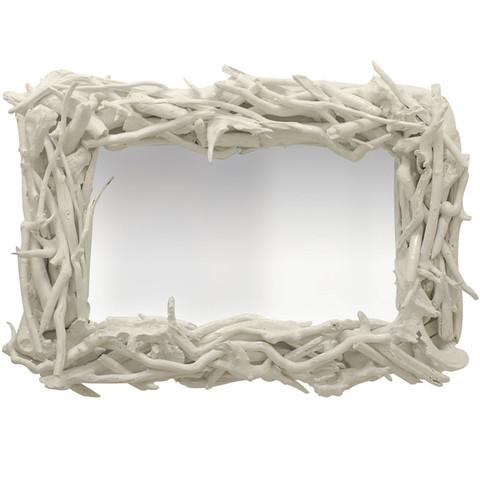 Custom Driftwood Mirror: White Gloss